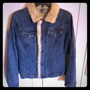 Roxy faux fur lined denim jacket